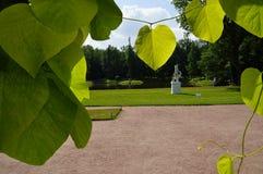 打开市的公园Oranienbaum罗蒙诺索夫 库存图片