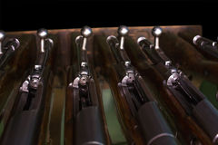 打开接收器Mosin步枪 库存图片