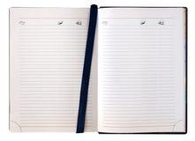 打开日志笔记本 免版税库存照片