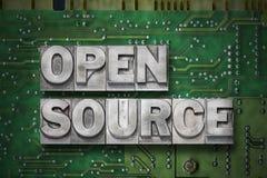 打开来源gr 免版税图库摄影