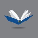 打开深蓝的书 库存图片