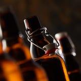 打开瓶与停止者的啤酒 图库摄影