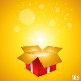 打开礼品券箱子艺术 库存图片