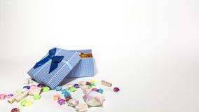 打开礼物盒星隔离 免版税图库摄影
