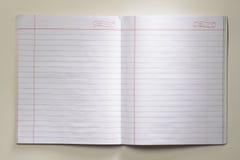打开空白的笔记本 免版税图库摄影