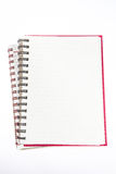 打开空白页笔记本 图库摄影