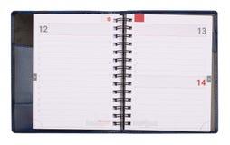 打开空的企业笔记本 库存图片