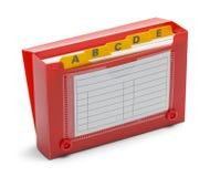 打开红色索引卡片持有人 免版税图库摄影