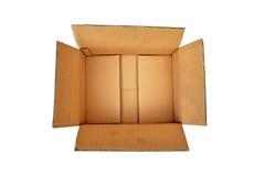 打开纸板箱 库存照片