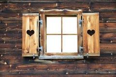 打开老木窗口 免版税库存图片