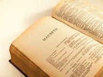 打开莎士比亚完全工作的页  免版税库存图片