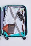 打开袋子旅客 图库摄影