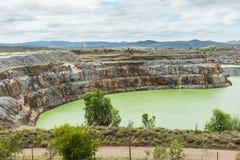 打开裁减金矿, Ravenswood,昆士兰 免版税库存照片