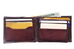 打开钱包 免版税库存照片