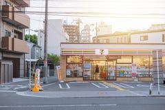 7-11打开24个小时便利商店在日本 库存照片