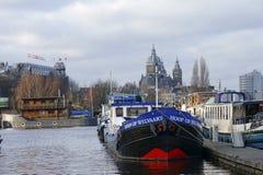 打开Harborfront阿姆斯特丹 免版税库存照片