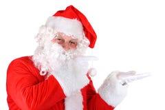 打手势圣诞老人的克劳斯 免版税图库摄影