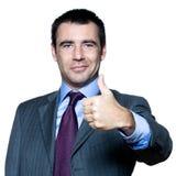 打手势英俊的人纵向赞许 免版税库存图片