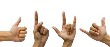 打手势被设置的现有量 免版税图库摄影