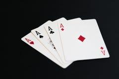 打扑克拟订在黑背景的一点 免版税图库摄影
