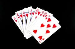 打扑克 库存图片