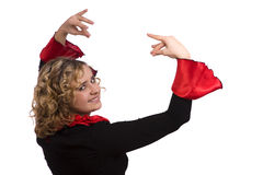 打扮万圣节西班牙语妇女 图库摄影
