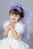 打扮神仙的女孩佩带的一点 库存照片