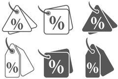 打折百分号,销售标签,折扣率,价格标志象,百分之标记,折扣商标,销售横幅,价牌,销售 库存例证