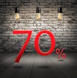 打折70%与文本特价优待您的折扣 免版税库存图片