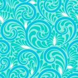 打旋与蓝色的无缝的抽象背景 库存图片