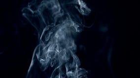 打旋在它附近的黑暗和白色烟 股票录像