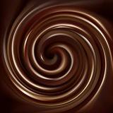 打旋的巧克力纹理传染媒介背景  免版税库存照片