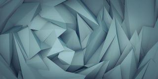 打旋的绿松石抽象3d polygones回报 图库摄影