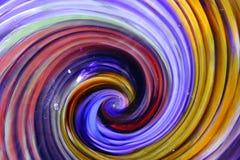 打旋的玻璃螺旋 免版税库存照片