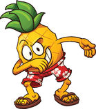 轻打的菠萝 库存图片