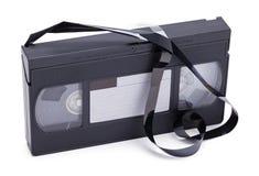 打破了VHS磁带 库存照片