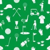 打高尔夫球体育简单的白色和绿色无缝的样式eps10 图库摄影