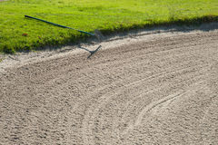 打高尔夫球在太阳海岸,马拉加,西班牙的比赛 库存照片