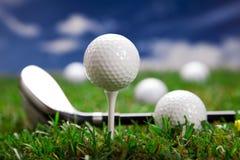 打高尔夫球概念! 库存图片