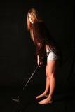 打高尔夫球热 图库摄影