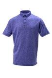 打高尔夫球男人或妇女的蓝色和白色T恤杉 库存照片