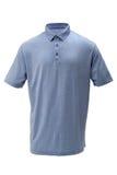 打高尔夫球男人或妇女的T恤杉浅兰的颜色 免版税图库摄影