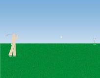 打高尔夫球的例证 免版税库存图片