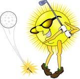 打高尔夫球的星期日 库存照片