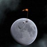 打高尔夫球的月亮 库存照片