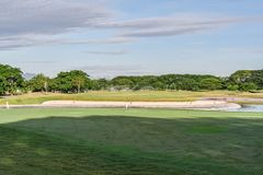 打高尔夫球的菲律宾 图库摄影