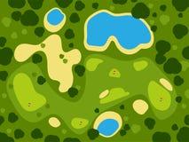 打高尔夫球领域路线绿草体育风景戏剧俱乐部比赛打高尔夫球的孔室外背景传染媒介例证 库存图片
