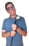 打高尔夫球Jock螺母坚果赞成的疯狂的&#3964 库存图片