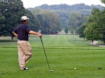打高尔夫球que 免版税图库摄影