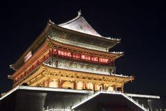 打鼓塔XI的`, XI街市的`在1380年被架设了 陕西 免版税库存照片
